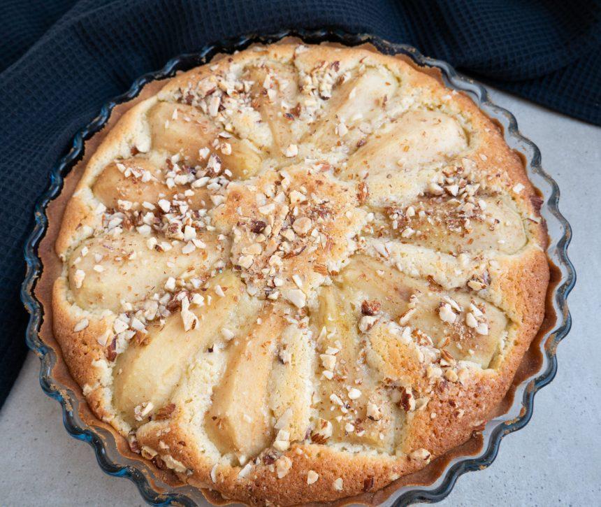 Nem opskrift på den lækreste pæretærte
