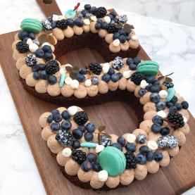Chokoladekage – Opskrift på talkage eller bogstavkage