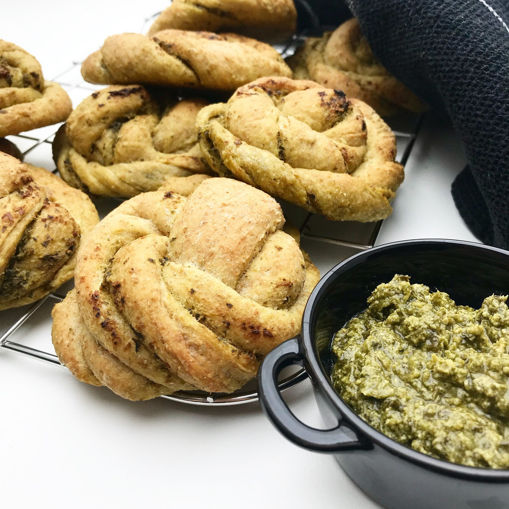 Pestosnurrer – Brug dem som madbrød eller kuvertbrød