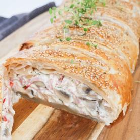 Skinkestang – Opskrift på butterdejsstang med skinke