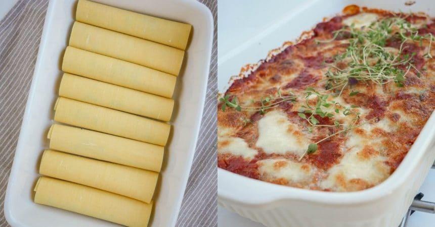 Cannelloni med spinat og ricotta