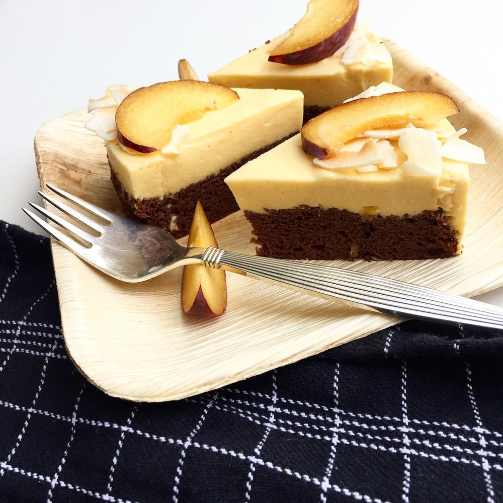 Sundere chokoladekage med mangomousse