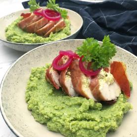 Fyldt kylling med broccolimos