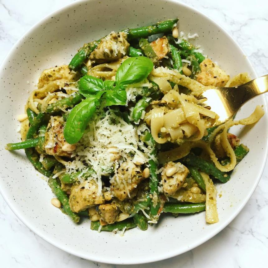 Pesto pasta med kylling