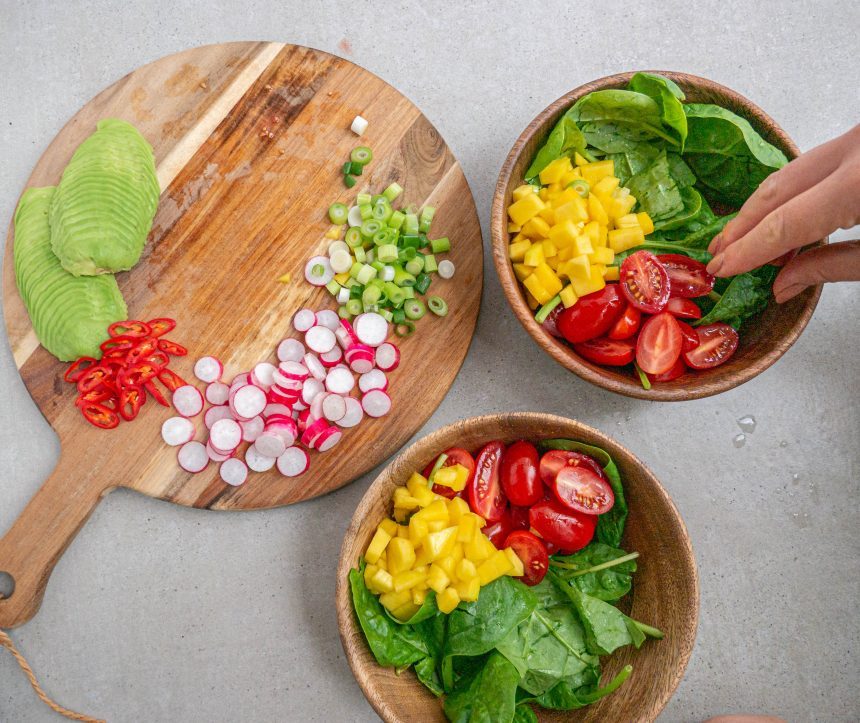 Salat bowls med asiatisk mørbrad