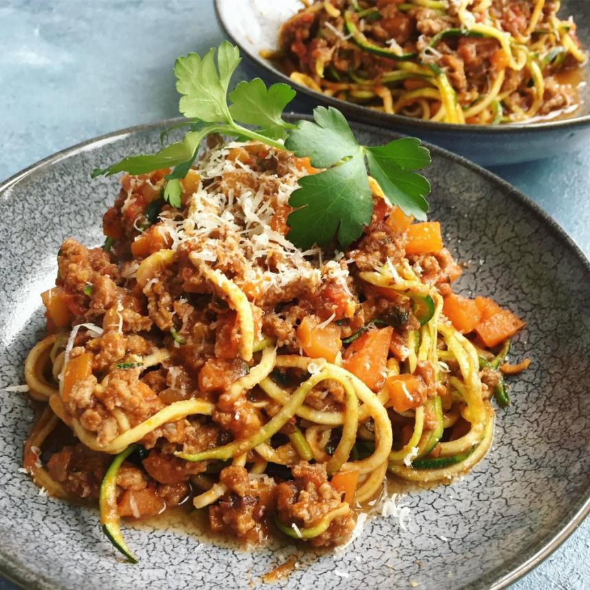 Spaghetti squash med kødsauce