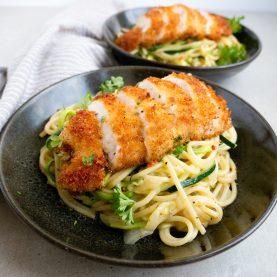 Crispy chicken med squash