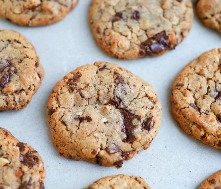Cookies med chokolade og nødder