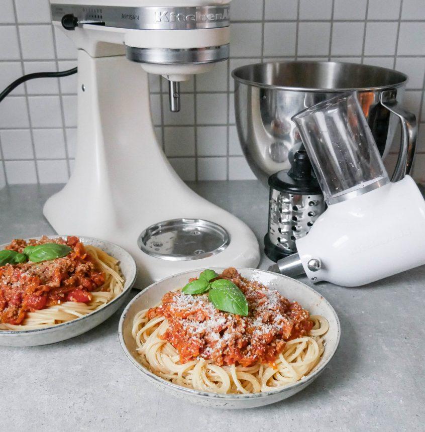 spaghetti bolognese kitchenaid