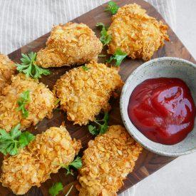 kylling paneret i cornflakes
