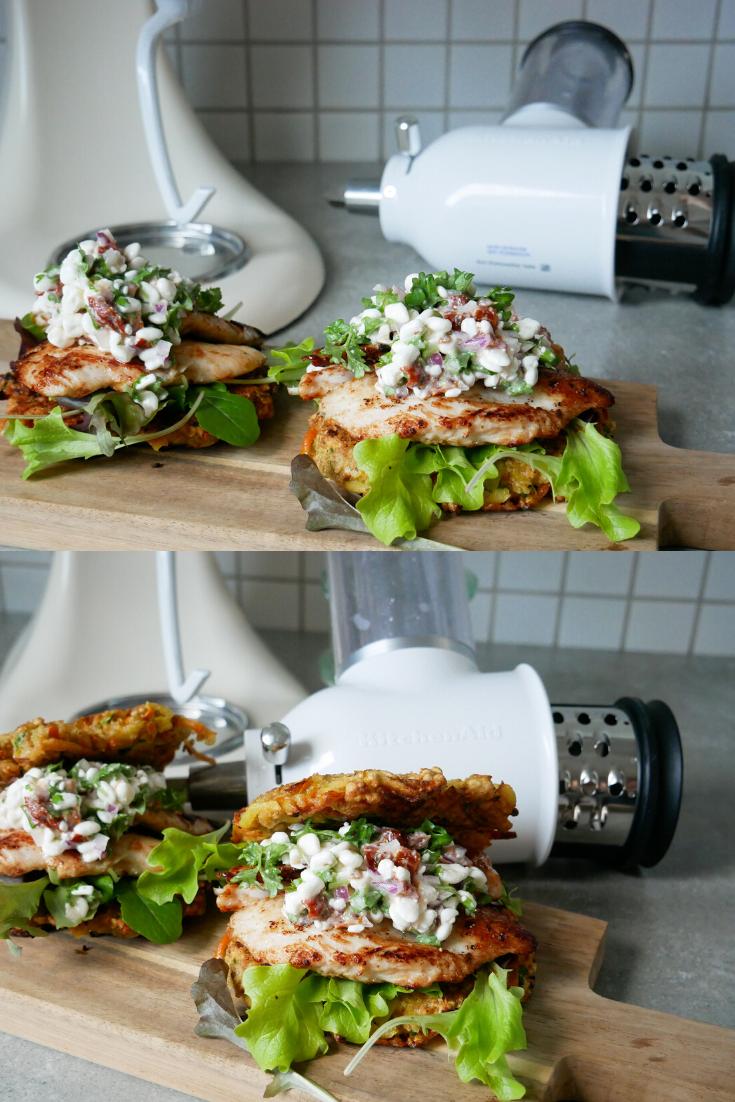 rösti sandwich med kylling
