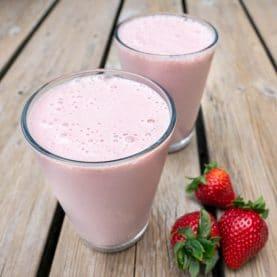 Jordbær-banan smoothie-2
