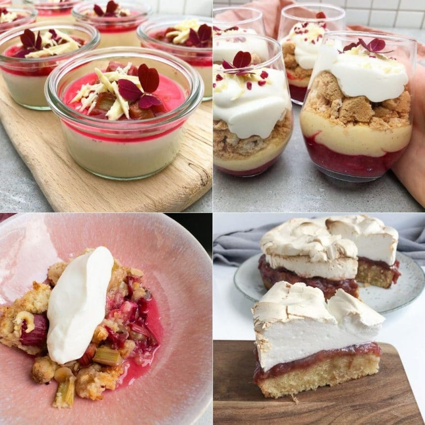 5 desserter med rabarber