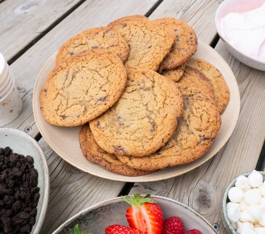 Nem opskrift på amerikanske cookies