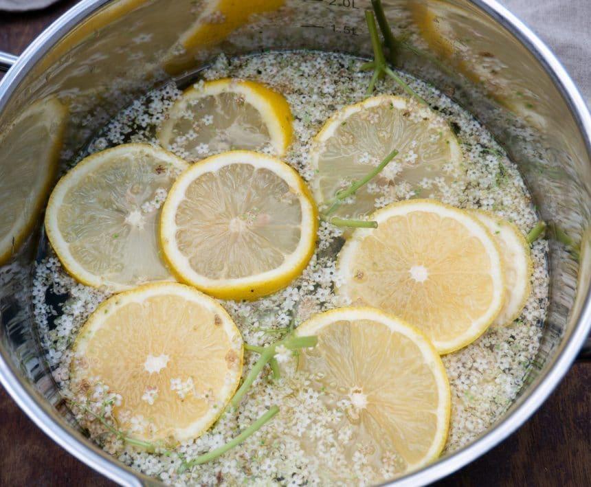 Nem opskrift på hyldeblomstsaft uden citronsyre