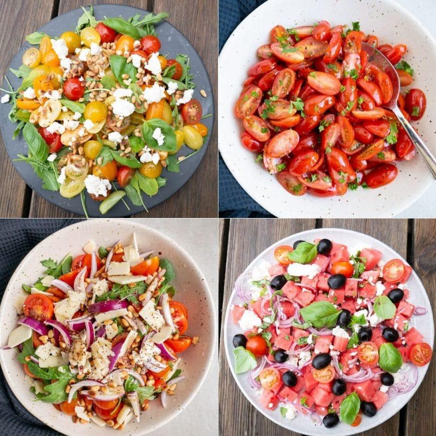 5 salater med cherrytomater