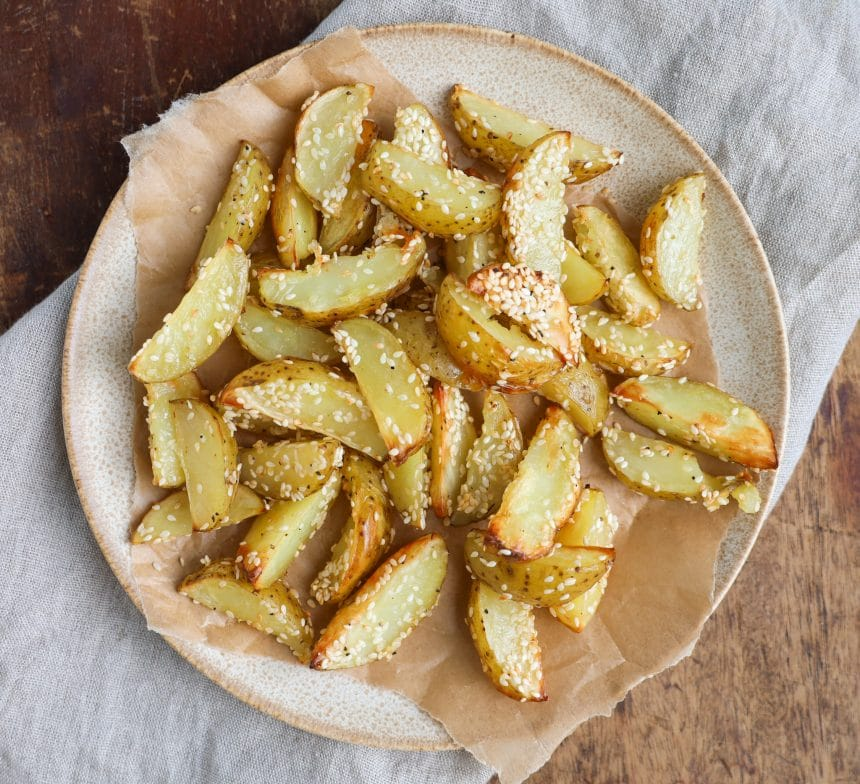 Opskrift på sesamkartofler