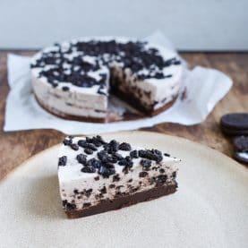 Oreo cheesecake med browniebund