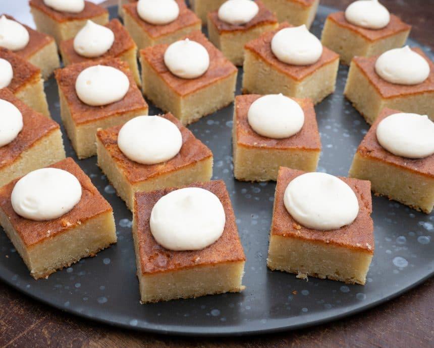 Opskrift på mazarinkage med vaniljecreme
