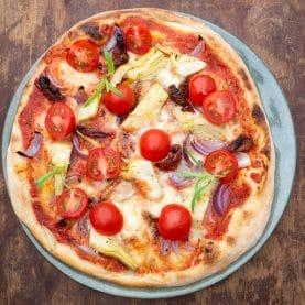 Opskrift på pizza med artiskok