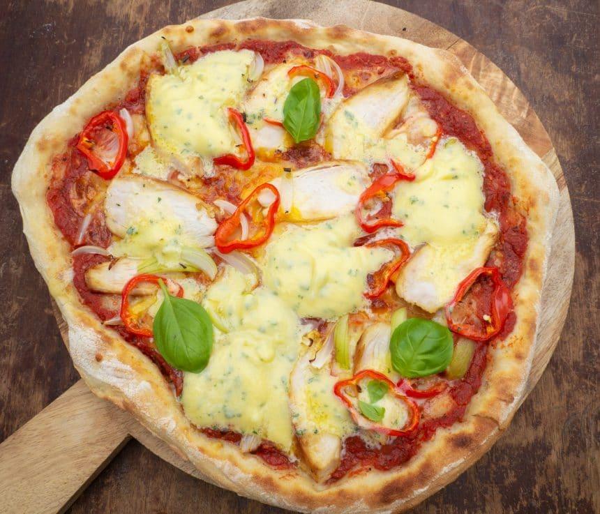 pizza med bearnaise