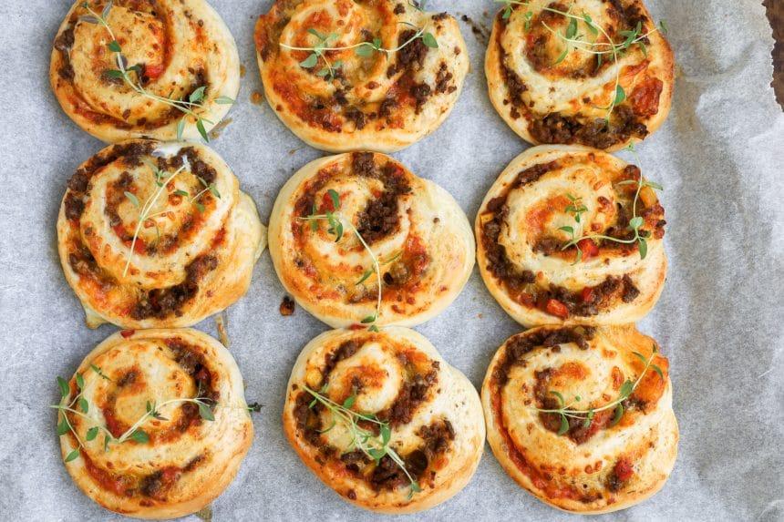 Opskrift på mexicanske pizzasnegle