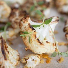 Bagt blomkål med parmesan