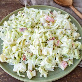 Opskrift på porre-æblesalat