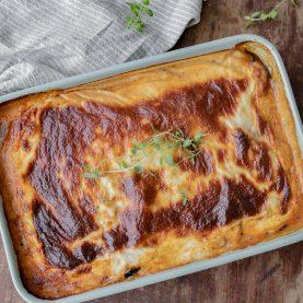 Moussaka med kartofler og oksekød