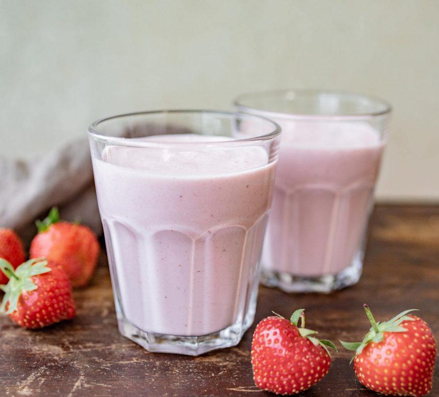 Opskrift på jordbærmilkshake