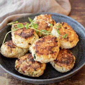 Opskrift på kyllingefrikadeller med squash